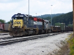 CSX SD40-2 8472 leads two lease SD40-2's